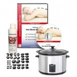 Hot Stone Einsteiger-Set MASSAGE-EXPERT mit 5,5...