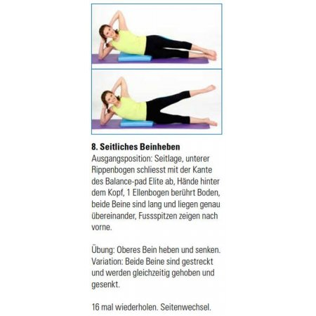 Balance-Training mit Balance Pad, 15 Übungen, PDF-Download
